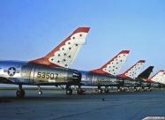 Thunderbirds F-100D Super Sabre. Laughlin AFB, Del Rio, Texas 1964. Photographer Joe Richard