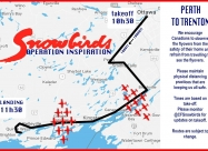 Perth to Trenton flyover map