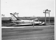 At take off roll, the aircraft failed to lift off and went through the barrier at the end of the runway and stopped just short of a four lane highway. The cause was later determined to be the air brakes had been in the extended position. Laughlin AFB 1964