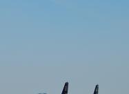 Frecce Tricolori and RNLAF F-16 demo team