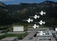 Thunderbirds T-38 Talon. Over Air Force Academy, Colorado Springs. Photo by Michael Jacobssen