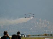 Patrulla Aguila formation landing