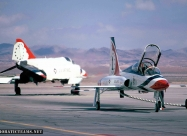Thunderbirds T-38 Talon and F-4E after the transition - circa Jan/Feb 1974. Photo by Michael Jacobssen