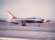 Thunderbirds F-105B Thunderchief. Hamilton AFB, CA, after Capt. Devlin's crash