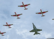 PC-7 TEAM and F-18