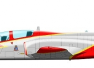Patrulla Aguila C-101 Aviojet, present paint scheme from 1991
