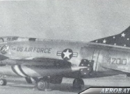 Skyblazers F-100C Super Sabre. Photo by A/1c DWM in December 1961 at Hahn