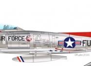 Skyblazers F-86F Sabre 1954-55 paint scheme