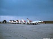Thunderbirds F-100C Super Sabre at Bitburg Air Base, Germany. May 1963
