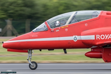 Red Arrows aircraft blows the tire